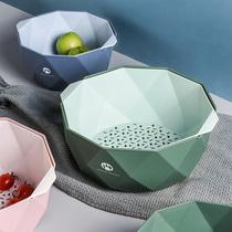 水果盘北欧风格果篮客厅家用厨房淘菜篮子双层洗菜盆洗水果沥水篮