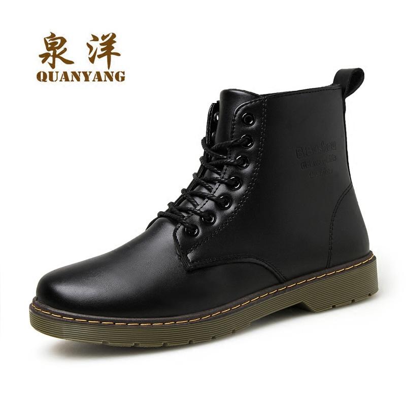 男鞋馬丁靴男英倫高幫鞋潮流 皮靴子中邦 工裝皮鞋