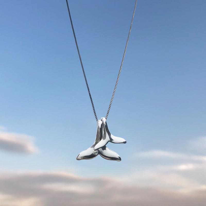 [小麋人原创手工纯银项链]前任3林佳同款海豚鱼尾吊坠小麋人S9月销量565件仅售38元