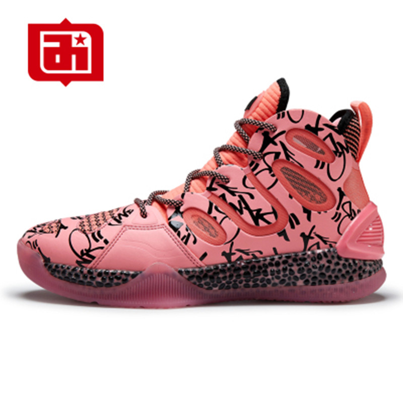Iverson basketball shoes mens high help youth wear-resistant cement field boots summer students breathable pink sneakers