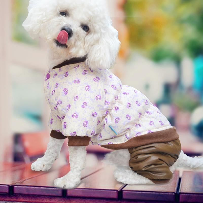 泰迪衣服 裝狗狗衣服比熊博美幼犬小狗衣服冬天四腳棉衣情侶裝