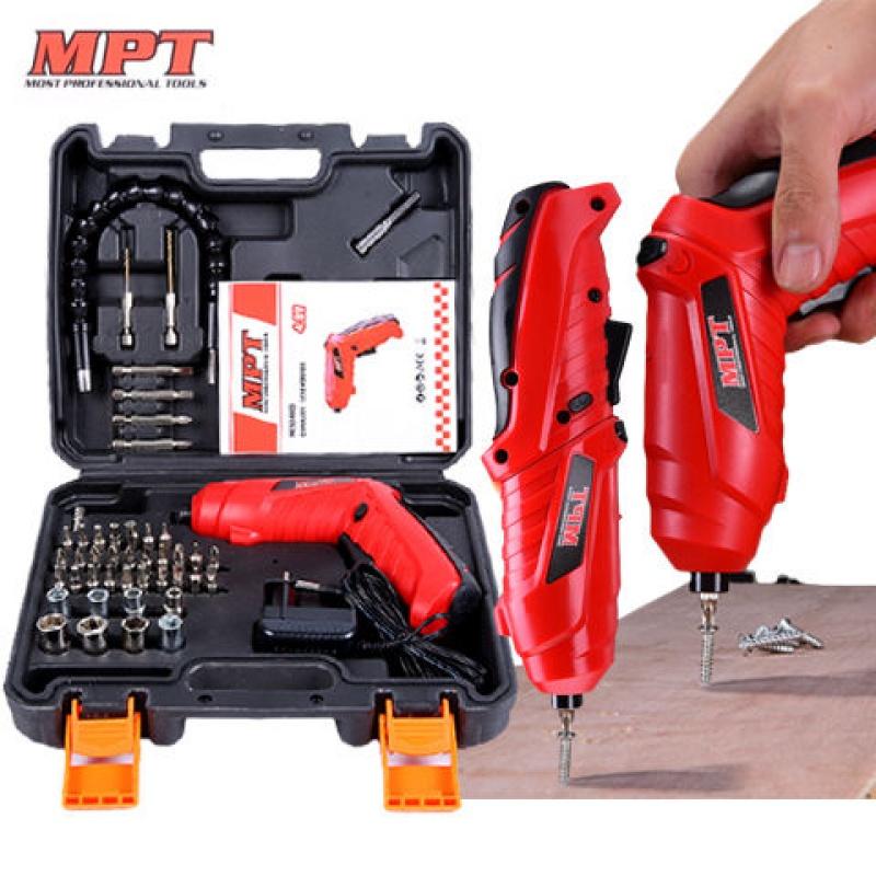 德国MPT品牌4.8v家用电动螺丝刀迷你手枪钻电动起子电动工具套装