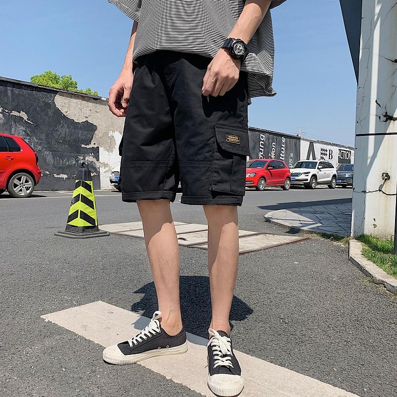 (用0.030000000000001元券)工装日系男士夏天原宿风潮牌短裤