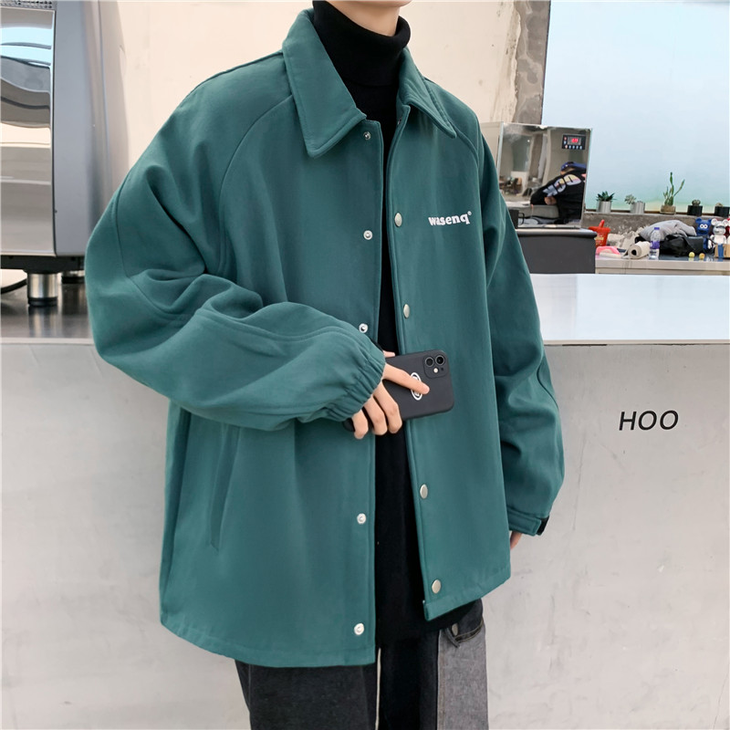 Spring and autumn super hot ins tide brand tooling jacket male Korean version of the trend loose student casual bf jacket top