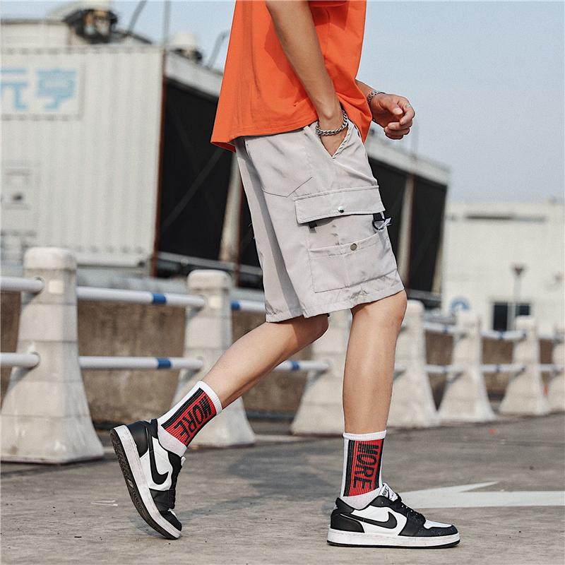 28.97元包邮港风潮牌男装男夏季宽松多口袋短裤