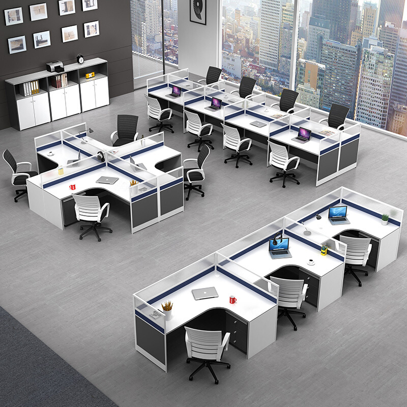 Screen desk, staff desk, desk and chair combination simple modern 4-person-6-person working position furniture computer desk partition card seat
