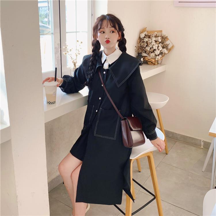 实拍实价控43/68元 杨紫同款百搭薄款风衣外套女+连衣裙