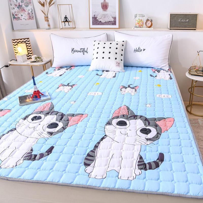 四季薄床垫子防滑可水洗1.5米床上保护垫床褥子宿舍双人榻榻米1.8