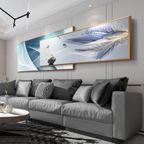 现代简约客厅装饰画抽象横版大气轻奢叠加沙发背景墙画挂画壁画