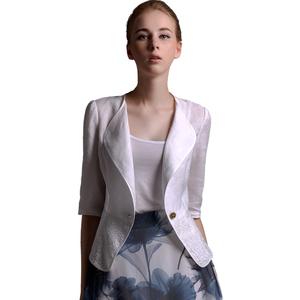 艾薇诺伊2021新款春夏亚麻女外套
