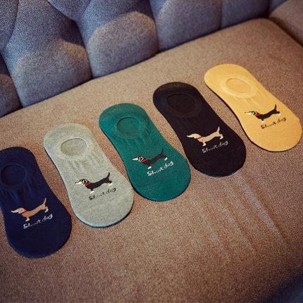 纯棉船袜男袜子男士短袜浅口豆豆鞋低帮硅胶防滑隐形夏季防臭吸汗