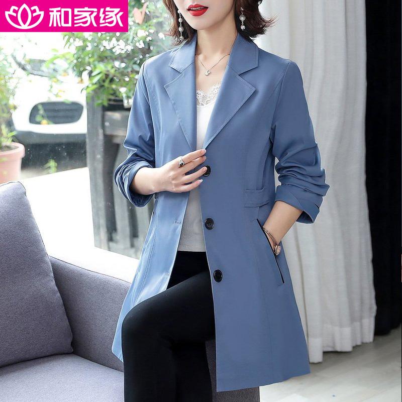 女装秋装2020新款潮30岁40秋季外套女风衣显瘦中长款50韩版35秋天