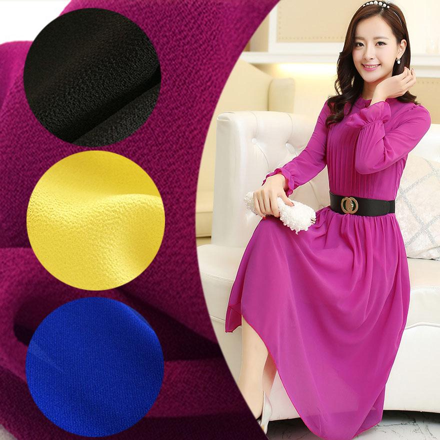 Pure pearl chiffon fabric Georgette Silk Dress Shirt ancient Chinese costume draped random linen