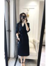 客供日本进口三醋酸经典款显瘦气质风衣中长款外套女秋季新