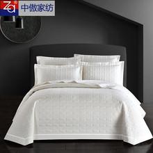 ヨーロッパスタイルのスリーピース綿のベッドカバー綿キルティング厚い白いキルトベッドTaikangブランケットキルトの寝具