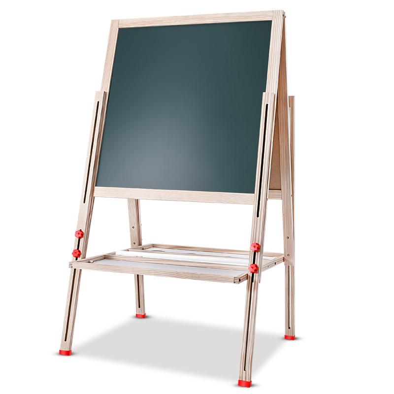 兒童寶寶畫板雙麵磁性小黑板可升降畫架支架式家用畫畫套裝寫字板