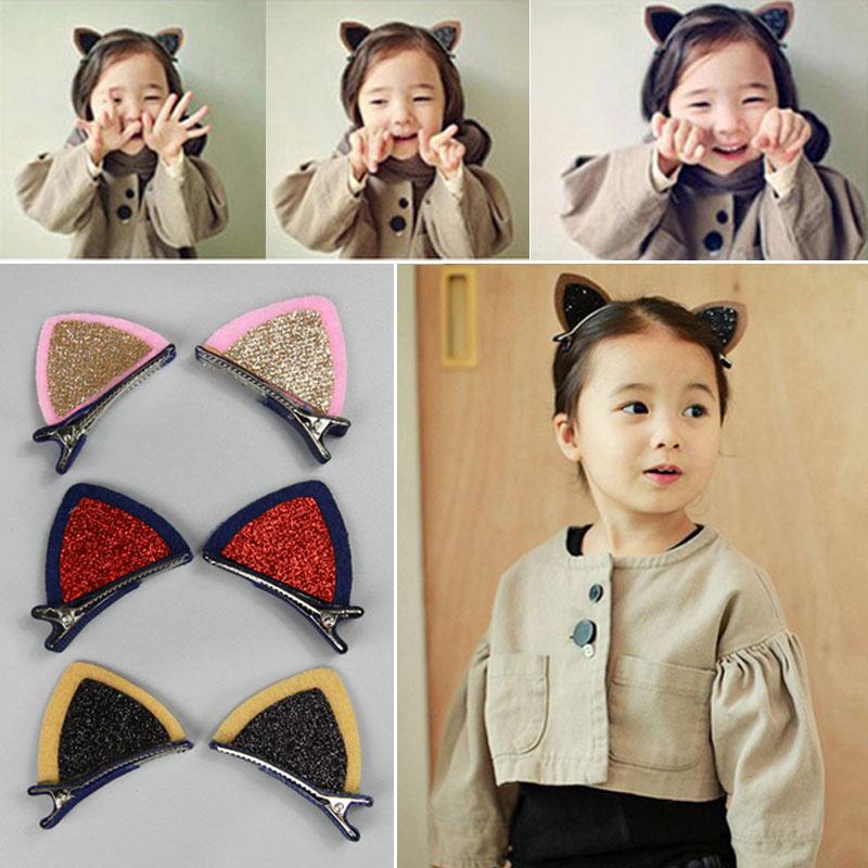 韩国儿童发卡头饰耳朵猫发夹公主发饰女童宝宝韩版小女孩可爱饰品