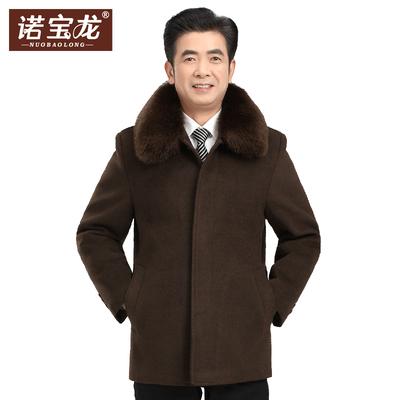 诺宝龙爸爸毛呢大衣加厚加绒