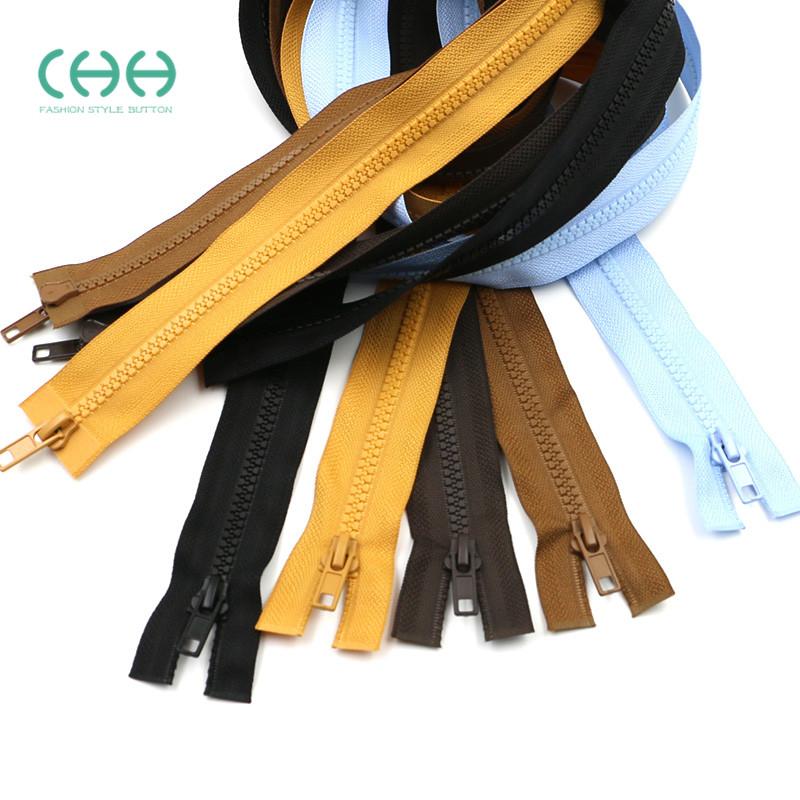 5号树脂双头拉链1米拉锁头双开尾长款羽绒服被罩睡袋双向拉链配件