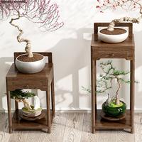 花架子室内客厅落地式置物架摆件饰品花盆架实木新中式绿萝植物架