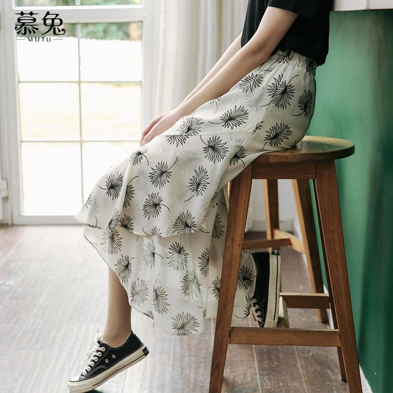 (用10元券)适合胯大腿粗的碎花雪纺女夏半身裙