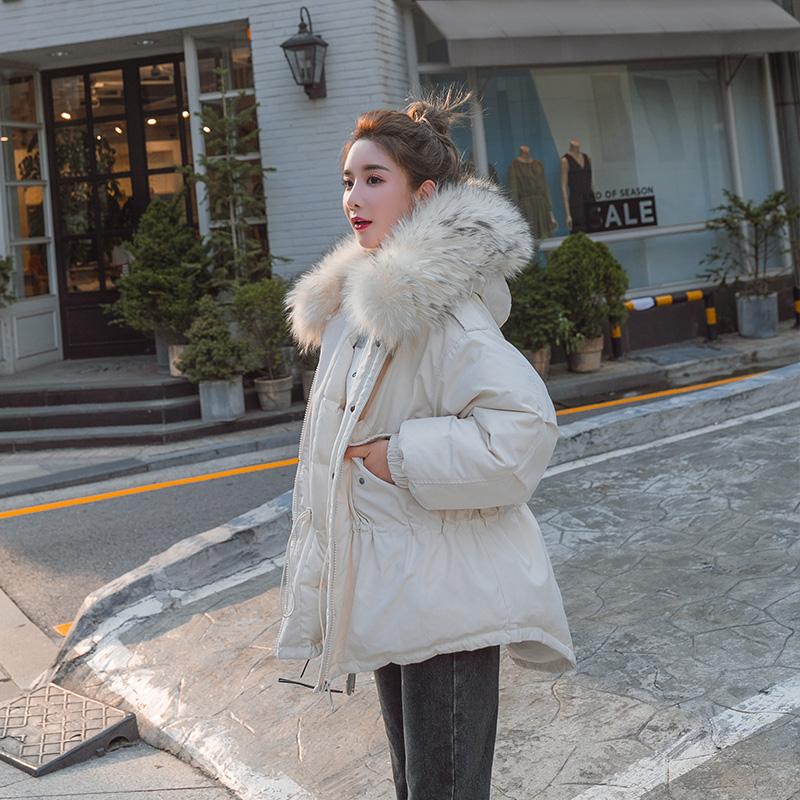 短款棉服女2019冬季新款棉衣宽松收腰面包服韩版工装外套羽绒棉袄