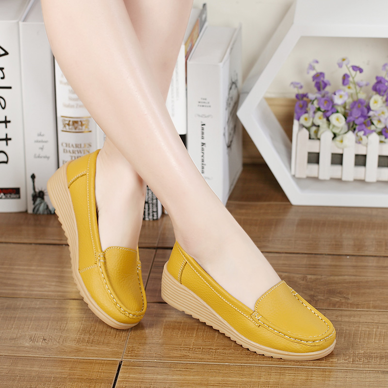 Shoes not tired at work womens single shoes clearance special second kill retro casual womens shoes mothers shoes leather soft sole