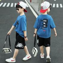 童装男童夏装套装韩版潮流2020新款帅洋气中大儿童网红短袖两件套