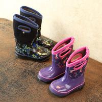 查看冬季男女儿童小马厚底保暖棉雨靴小中大童学生防滑雪地雨鞋橡胶瑕价格