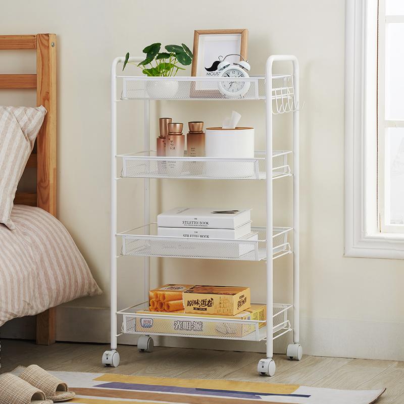 10-19新券美容小手推车厨房置物架落地多层书架带轮可移动卧浴室收纳架子