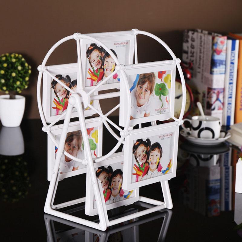 现代简约摩天轮相框摆台5寸7寸旋转大风车创意相片框儿童组合相架