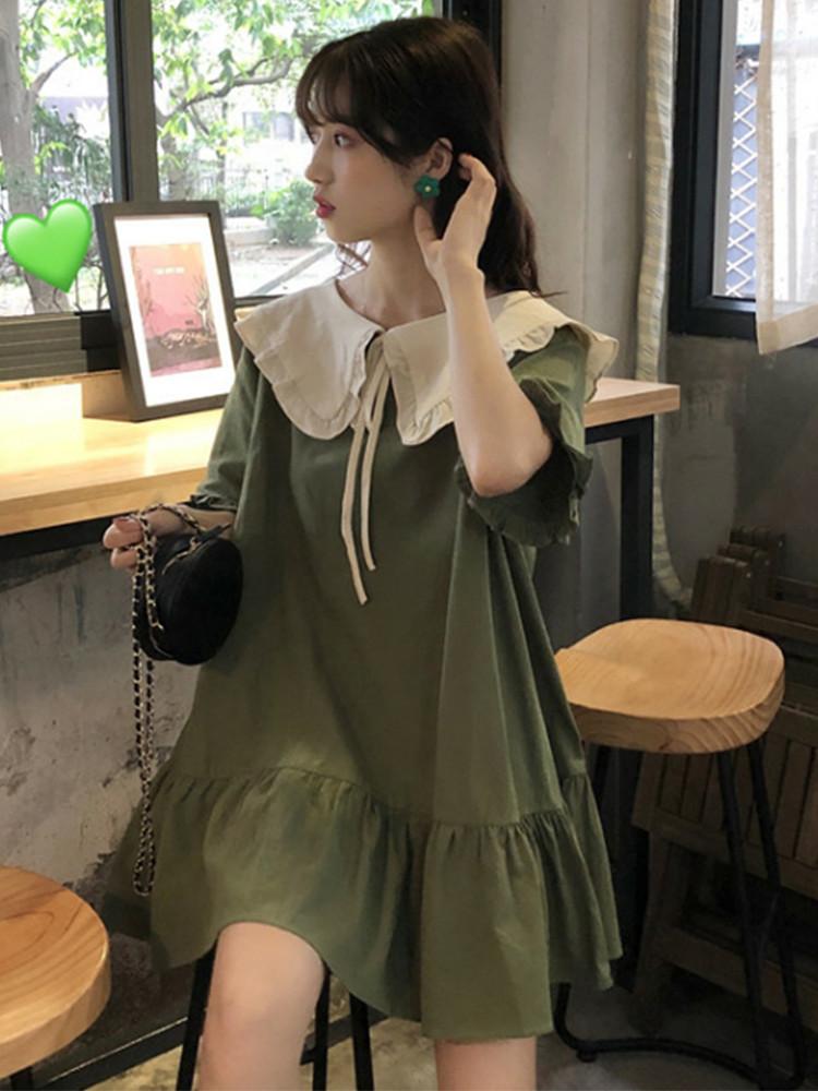 (用3元券)胖mm夏装新款2019大码女装连衣裙显瘦遮肚洋气仙女超仙森系裙子女