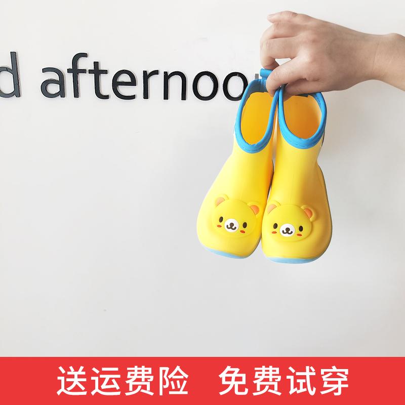 日本儿童雨鞋男童女童宝宝雨靴小童水鞋幼儿防滑水靴胶鞋四季通用