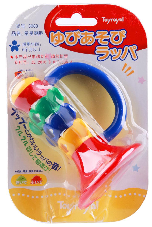 皇室兒童嬰幼兒0~1歲早教益智樂器玩具小寶寶星星喇叭可吹奏J