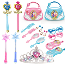 Little Demon Magic wand toy Princess Girl Fantasy Fairy stick glowing crown hair jewelry Childrens Toy magic Fairy stick