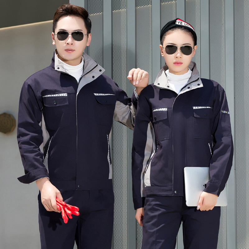 Customized work suit long sleeve hotel engineering department uniform autumn and winter clothing automobile repair workshop factory clothing electrician labor protection suit