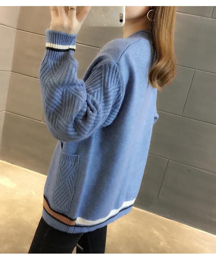 2019新款春装慵懒风针织开衫女春季加厚韩版宽松短款春款毛衣外套