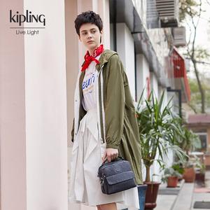 领50元券购买Kipling凯浦林女包2019新款丹宁小巧帆布双肩包斜挎包 CANDY