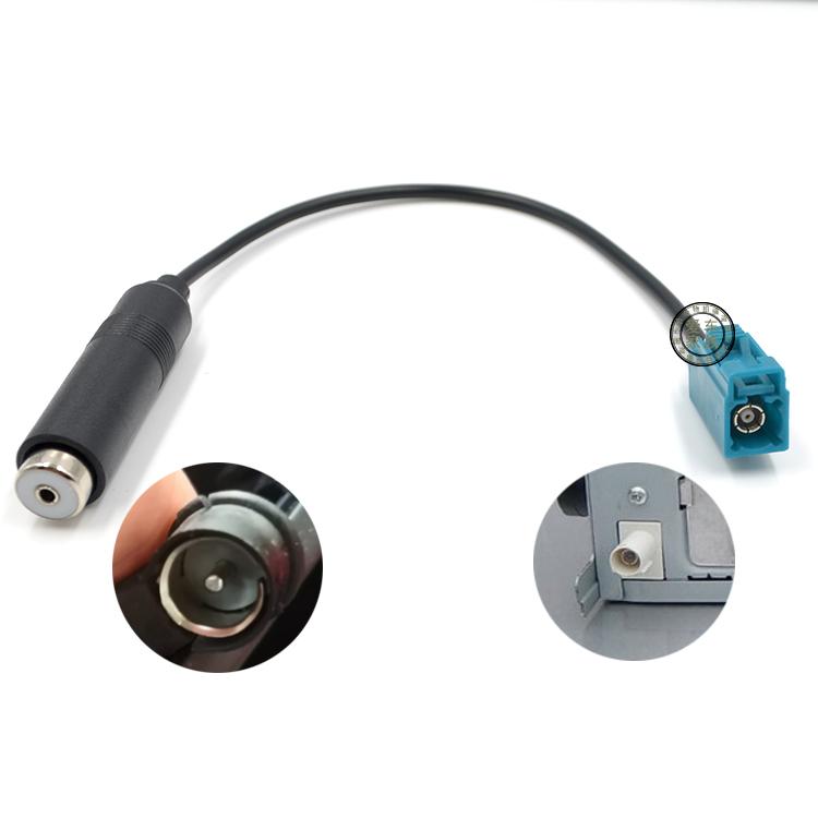 老捷达老帕萨特车改新款捷达CD机老款大众改新款CD机天线转接线图片