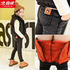 Girls plus thick velvet leggings outer wear female baby fall and winter clothes children wear big boy pants warm cotton Denim