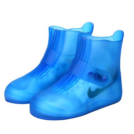 户外鞋套防水雨天加厚防滑雨鞋耐磨成人雨鞋套男女鞋套儿童雨靴