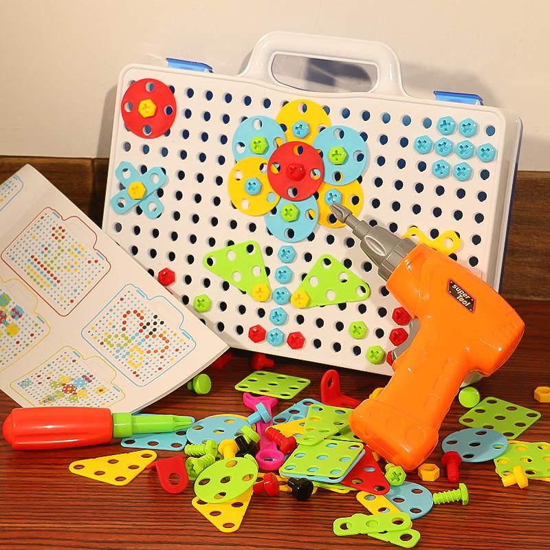 儿童拧螺丝钉玩具电钻工具箱动手可拆装卸拼装组合益智玩具男孩子