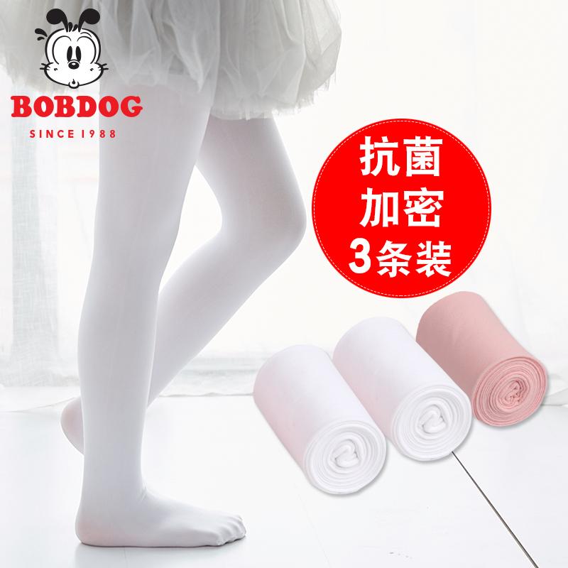 巴布豆女童连裤袜夏季薄款儿童打底裤专用跳舞白色丝袜舞蹈袜子