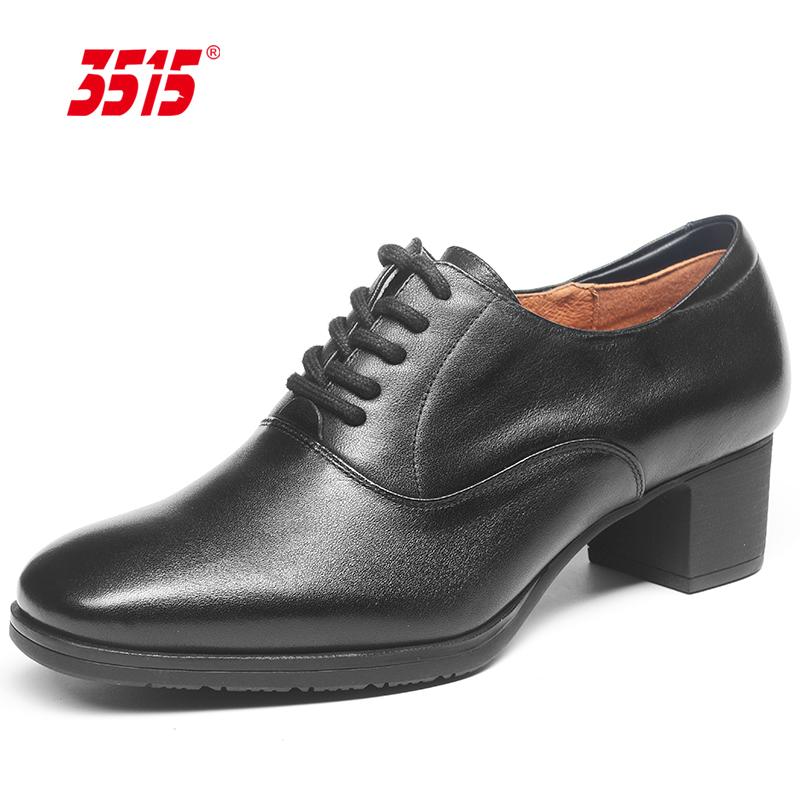 3515强人正品春秋真皮透气工装女鞋