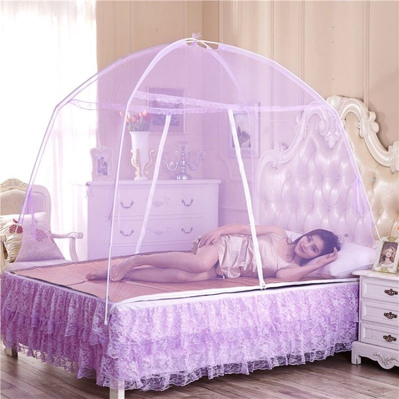 Mosquito net yurt with hih encryption sinle double bed