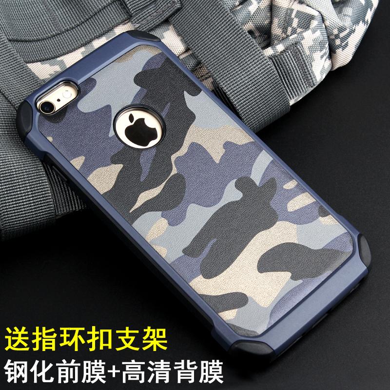 迷彩iPhone6手機殼蘋果6Plus矽膠防摔套6S軟殼保護套外殼潮�