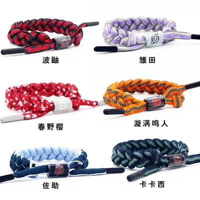 Naruto bracelet Naruto Sasuke Uchiha Itachi with braided hand rope couple student bracelet trendy men and women bracelet