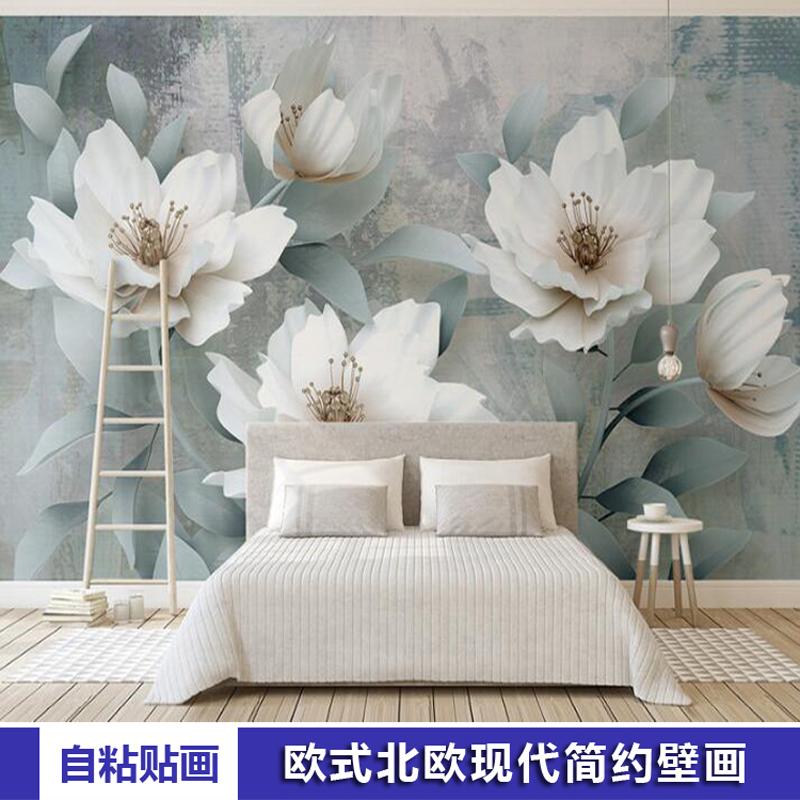 自粘墙贴纸欧式卧室沙发电视背景墙装饰贴画北欧现代简约壁画壁纸