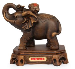 开光工艺品大象摆件一对象摆设大号客厅装饰品招财象平安吉祥如意