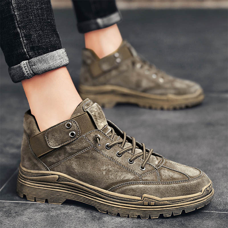 Martin boots mens fashion shoes versatile autumn British style high top short boots middle top mens shoes tooling winter casual shoes
